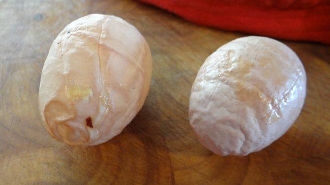 Деформация куриных яиц